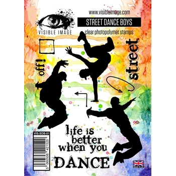 Visible Image STREET DANCE BOYS Clear Stamps VIS-SDB-01