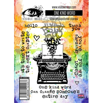 Visible Image ONE KIND WORD Clear Stamps VIS-OKW-01