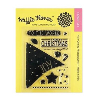 Waffle Flower CHRISTMAS TREE Clear Stamps 271218*
