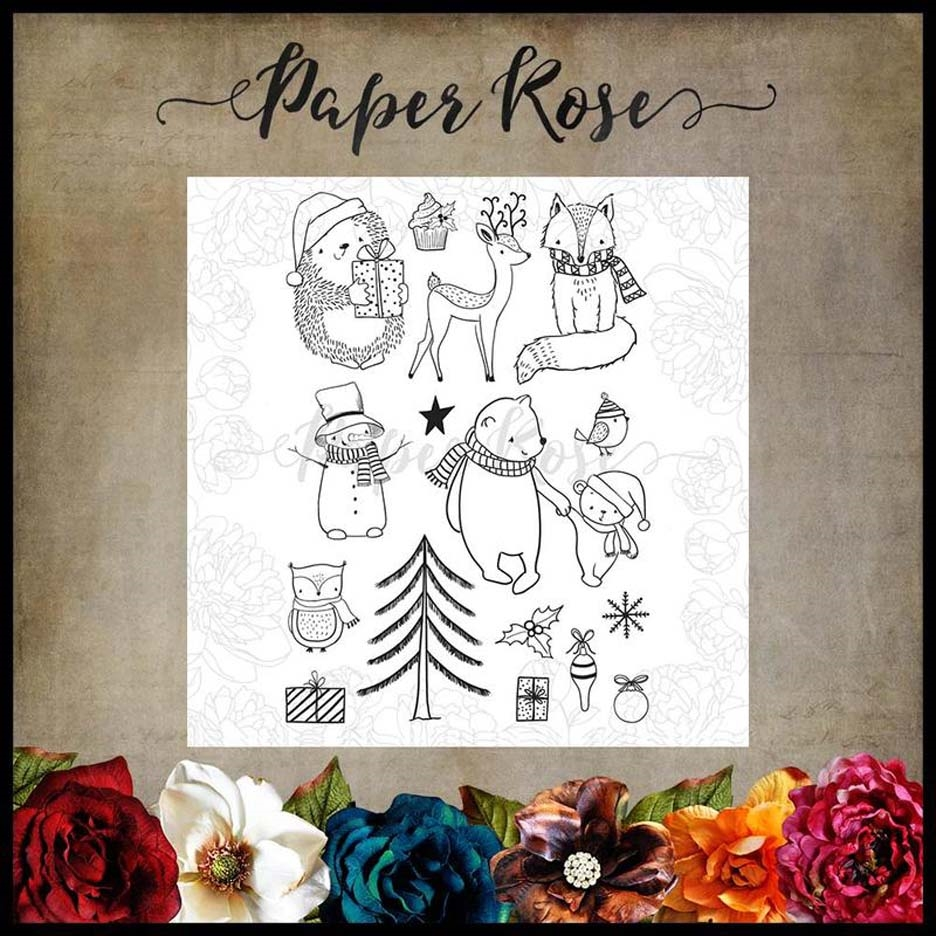 Paper Rose COZY WINTER Clear Stamps 17541* zoom image