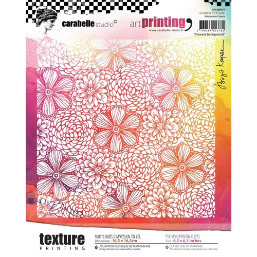 Carabelle Studio FLOWERY BACKGROUND Art Printing Texture Plate Square apca60021 Preview Image