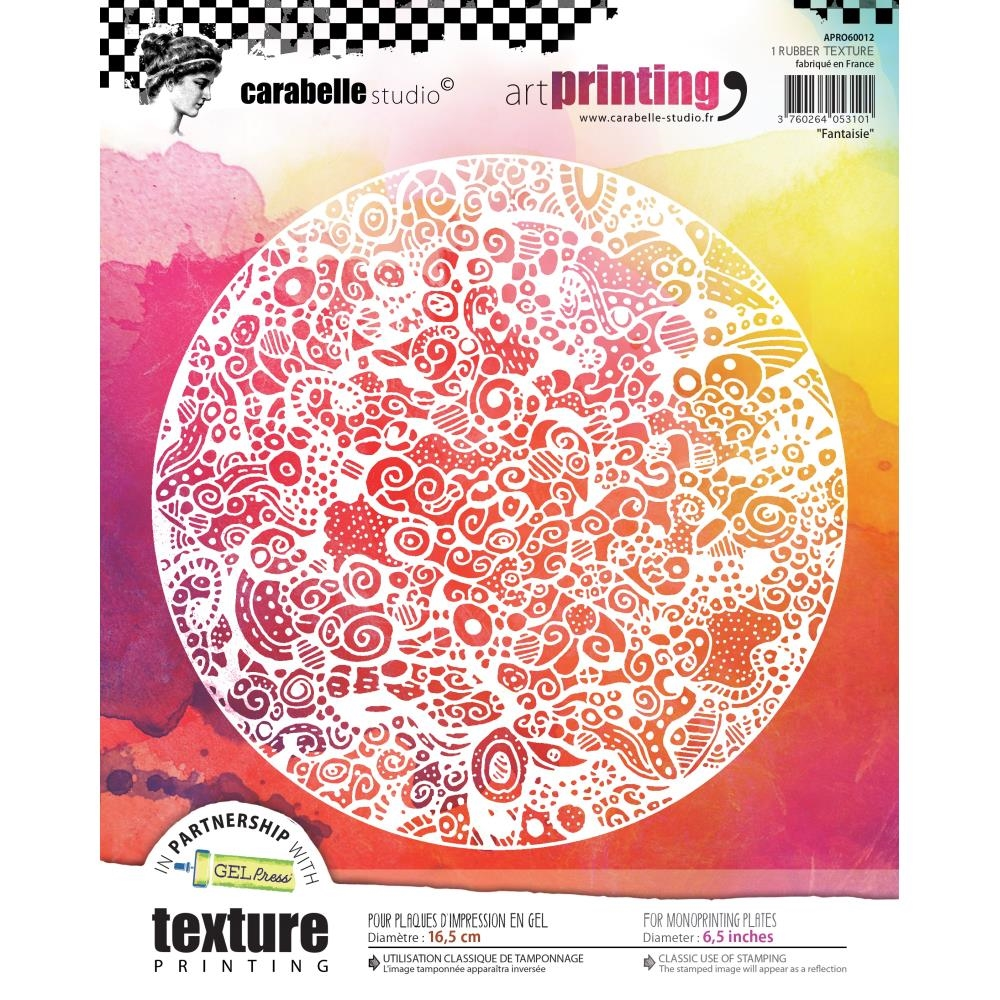 Carabelle Studio FANTAISIE Art Printing Texture Plate Round apro60012 zoom image