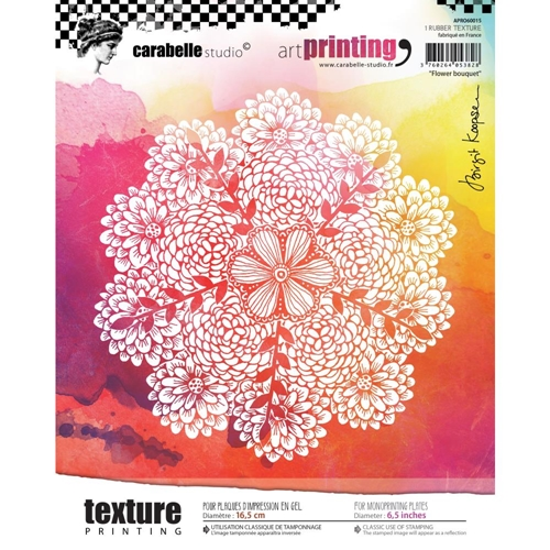 Carabelle Studio FLOWER BOUQUET Art Printing Texture Plate Round apro60015* Preview Image