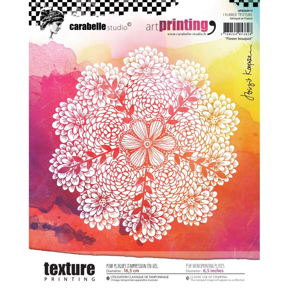 Carabelle Studio FLOWER BOUQUET Art Printing Texture Plate Round apro60015* zoom image