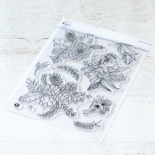 PinkFresh Studio FANCY BLOOMS Clear Stamp Set pfcs4918 Preview Image