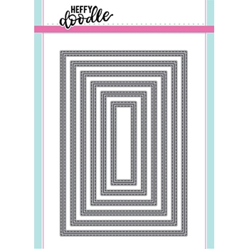 Heffy Doodle METRIC STITCHED RECTANGLES Dies hfd0099