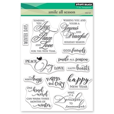 Penny Black Clear Stamps SMILE ALL SEASON 30-516 zoom image