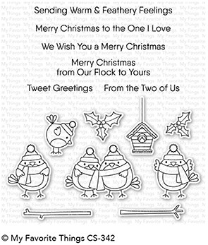 My Favorite Things TWEET HOLIDAYS Clear Stamps CS342