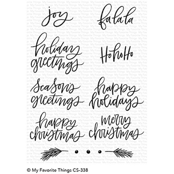 My Favorite Things HAND-LETTERED HOLIDAY GREETINGS Die-Namics CS338