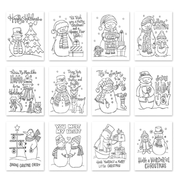 Simon Says Stamp Suzy's SNOWMEN Watercolor Prints szwcs10 Fun and Festive