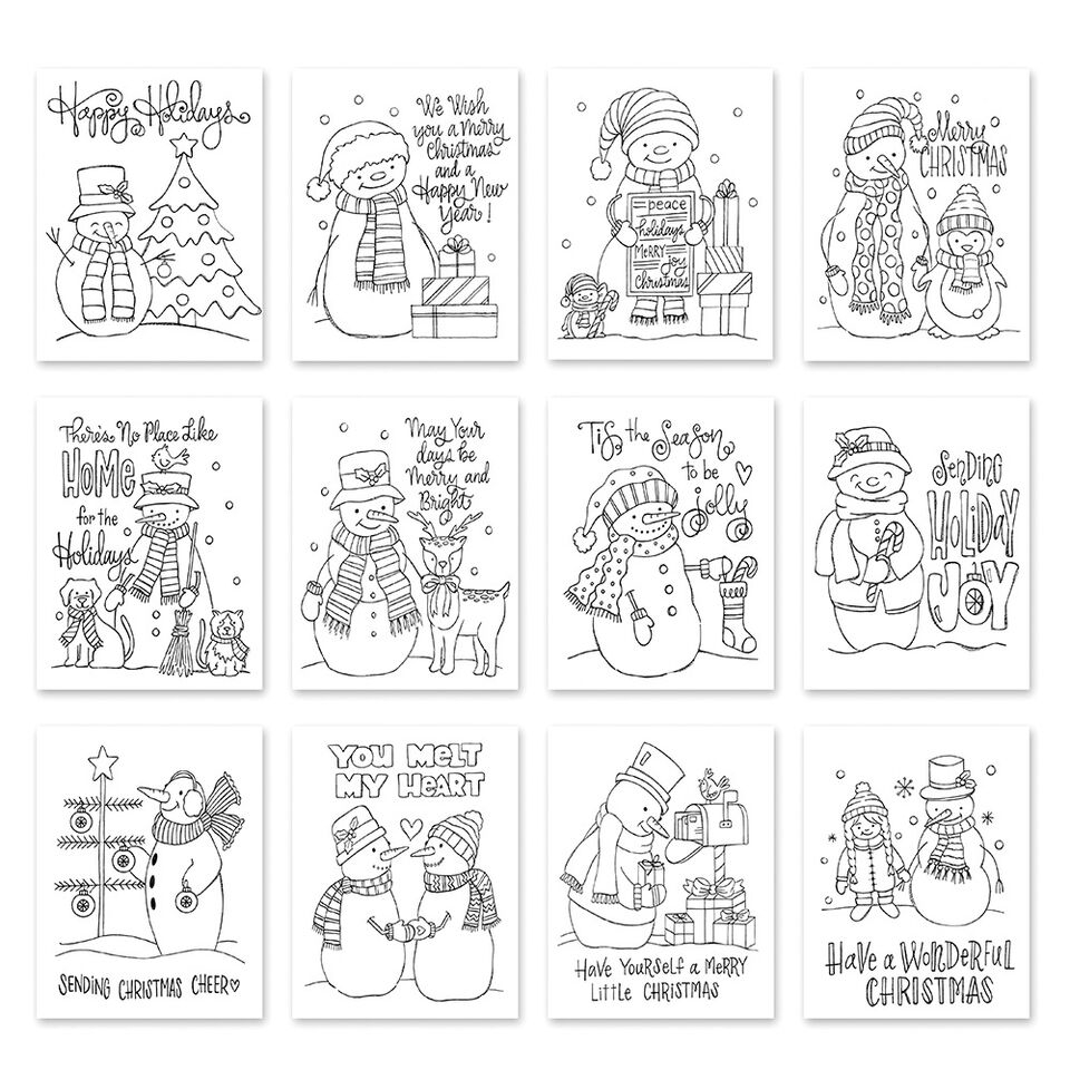 Simon Says Stamp Suzy's SNOWMEN Watercolor Prints szwcs10 Fun and Festive zoom image