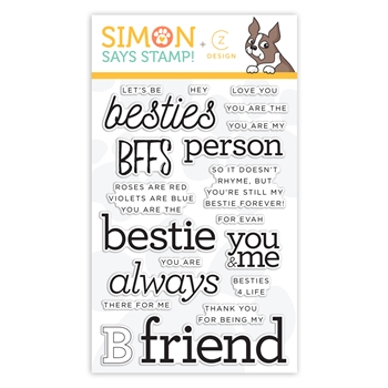 CZ Design Clear Stamps BESTIES CZ27 Fun and Festive