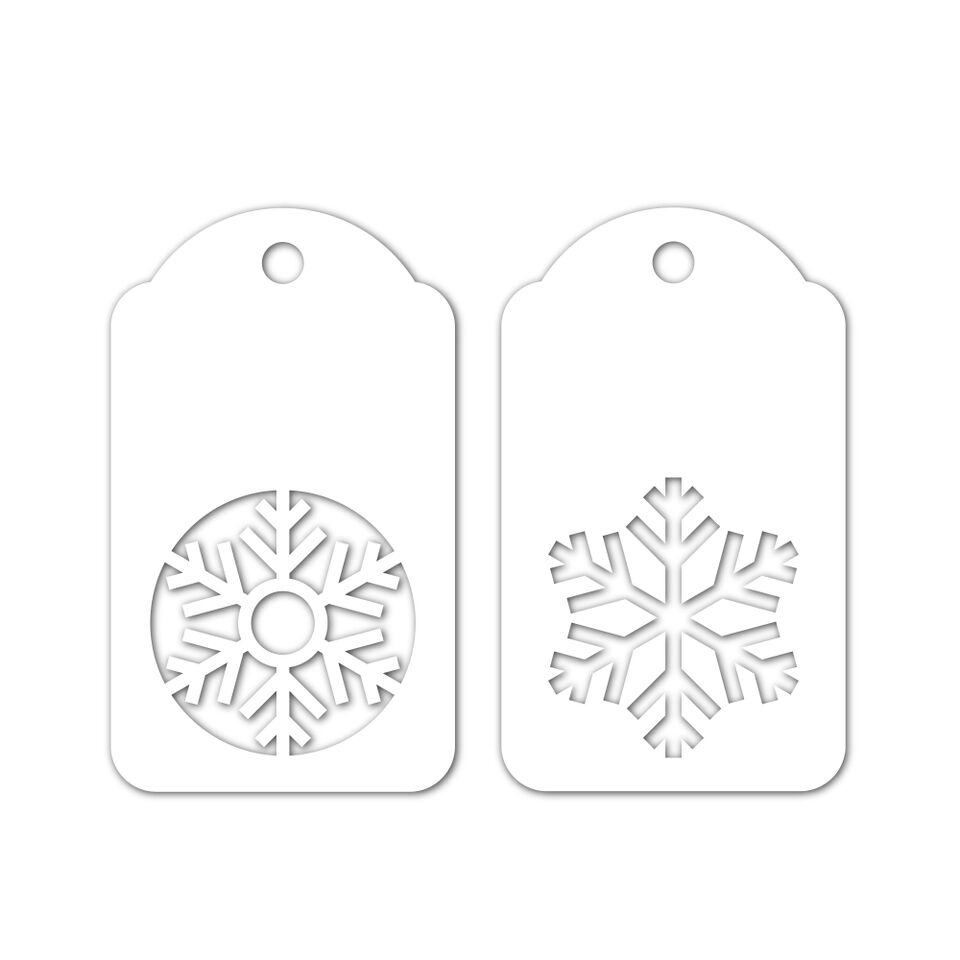 Simon Says Stamp SNOWFLAKE TAGS Wafer Dies sssd111901 Fun and Festive zoom image