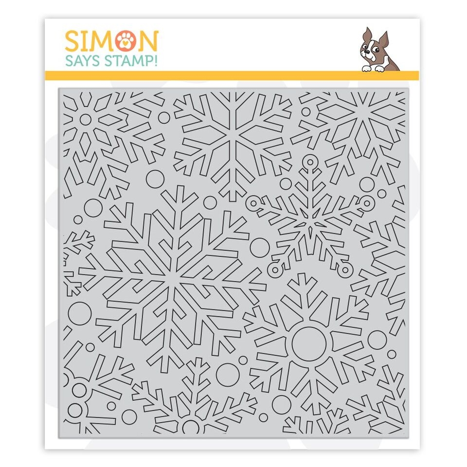 Simon Says Cling Rubber Stamp OUTLINE SNOWFLAKES sss101889 Fun and Festive zoom image