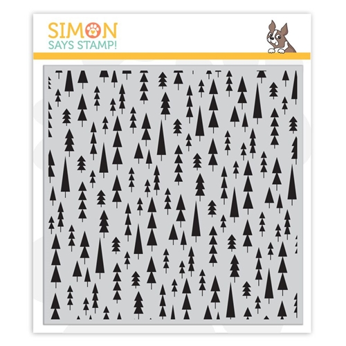 Simon Says Stamp Mod Trees Background Cling Stamp