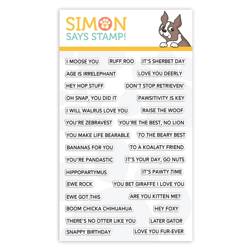 Simon Says Clear Stamps PUNNY ANIMALS sss101932 Fun and Festive Preview Image