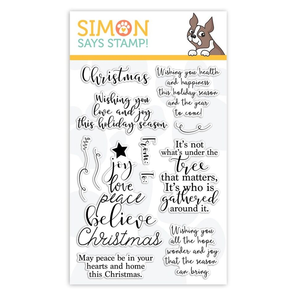 Simon Says Clear Stamps CHRISTMAS WISHES sss101888 Fun and Festive zoom image