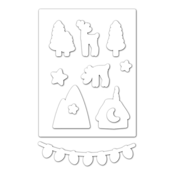 Simon Says Stamp WINTER SCENE Wafer Dies sssd111873 Fun and Festive *