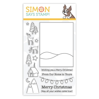 Simon Says Clear Stamps WINTER SCENE sss101887 Fun and Festive
