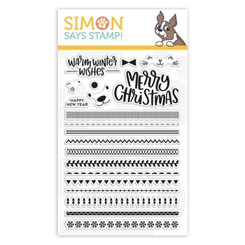 Simon Says Clear Stamps CRITTER SWEATERS sss101890 Fun and Festive