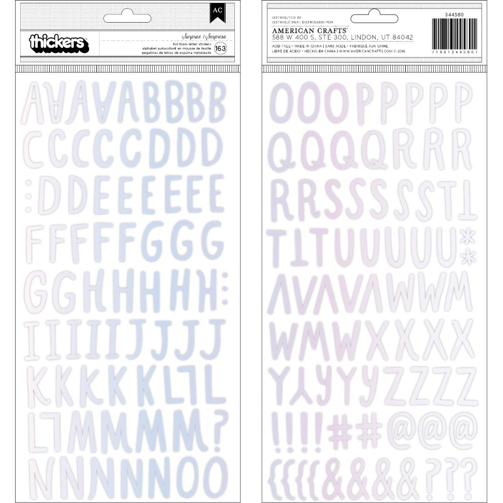 Crate Paper HOORAY Alphabet Thickers Stickers 344580 zoom image