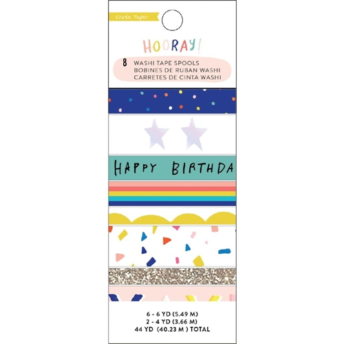 Crate Paper HOORAY Washi Tape 350766 Preview Image