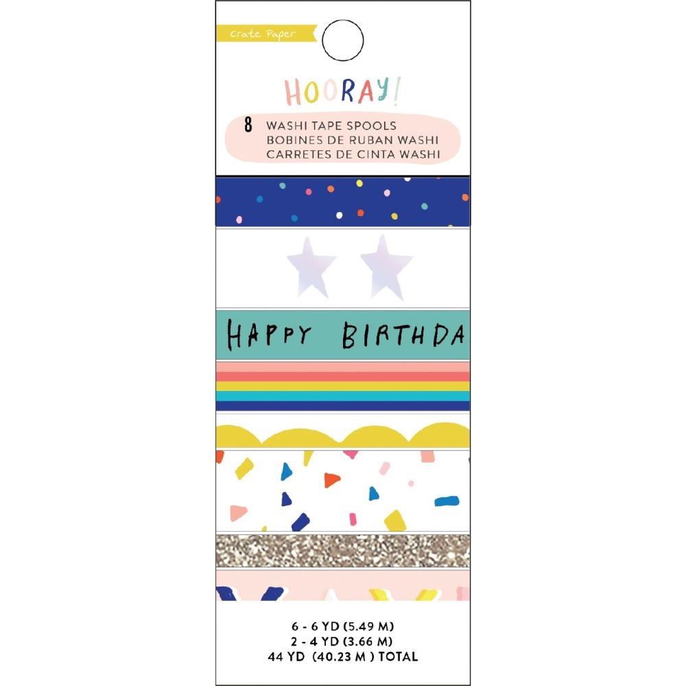 Crate Paper HOORAY Washi Tape 350766 zoom image