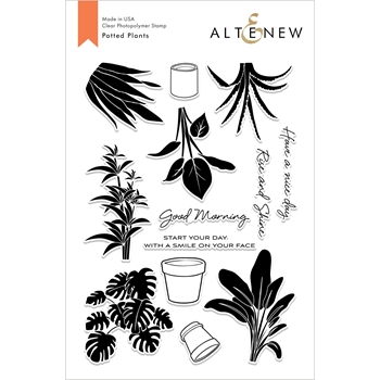 Altenew POTTED PLANTS Clear Stamps ALT2698*