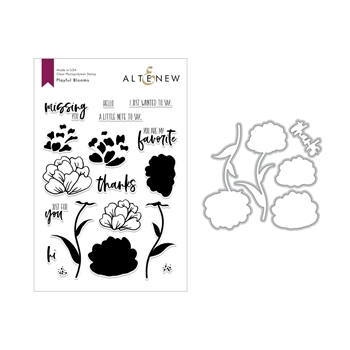 Altenew PLAYFUL BLOOMS Clear Stamp and Die Set ALT2694