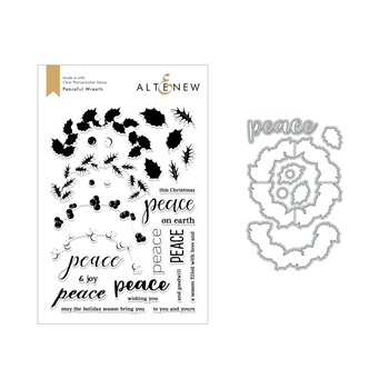 Altenew PEACEFUL WREATH Clear Stamp and Die Set ALT2691