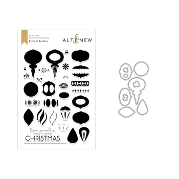 Altenew BRILLIANT BAUBLES Clear Stamp and Die Set ALT2681
