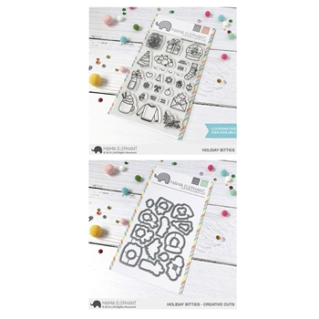 Mama Elephant Clear Stamp and Die MEPT554 Holiday Bitties SET