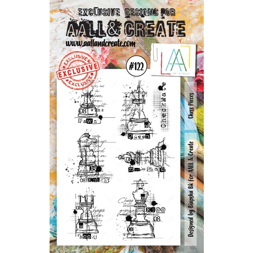 AALL & Create CHESS PIECES Clear Stamp Set aal00122 Preview Image