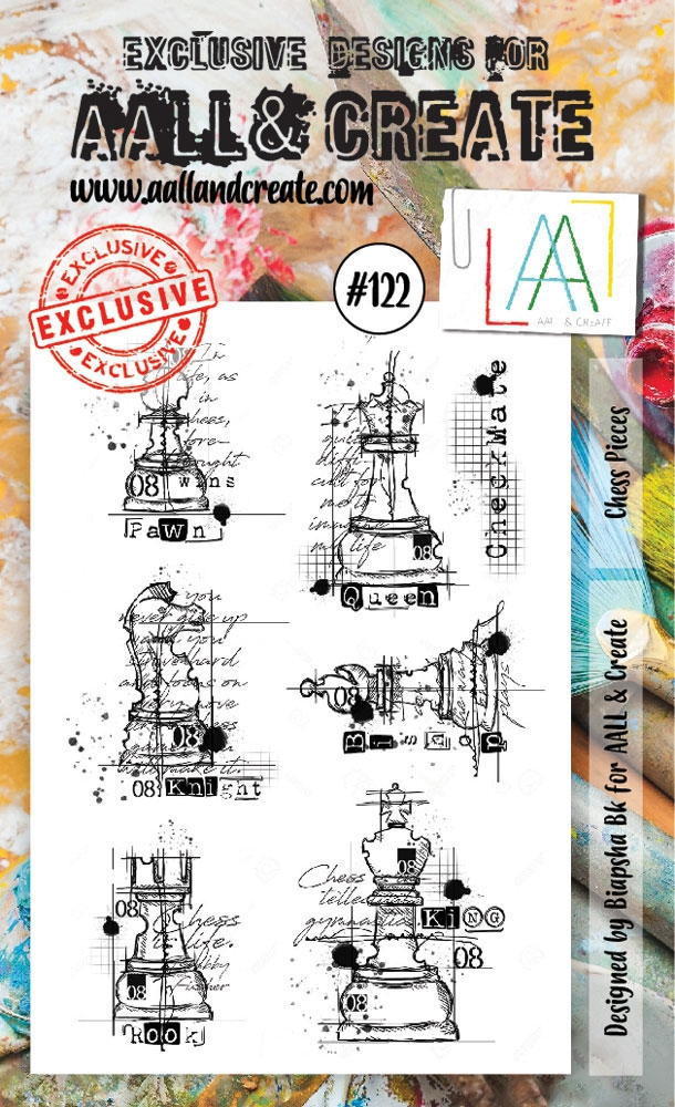 AALL & Create CHESS PIECES Clear Stamp Set aal00122 zoom image