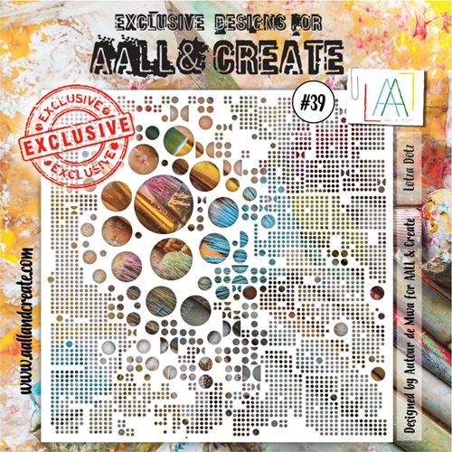 AALL & Create LOTZA DOTS Stencil 6x6 aal10039 Preview Image