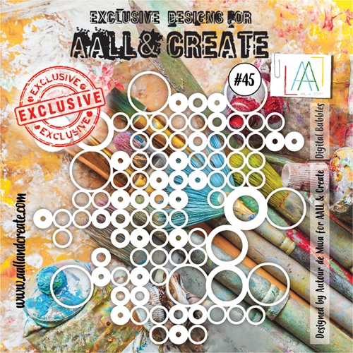 AALL & Create DIGITAL BUBBLES 45 Stencil 6x6 aal10045 Preview Image