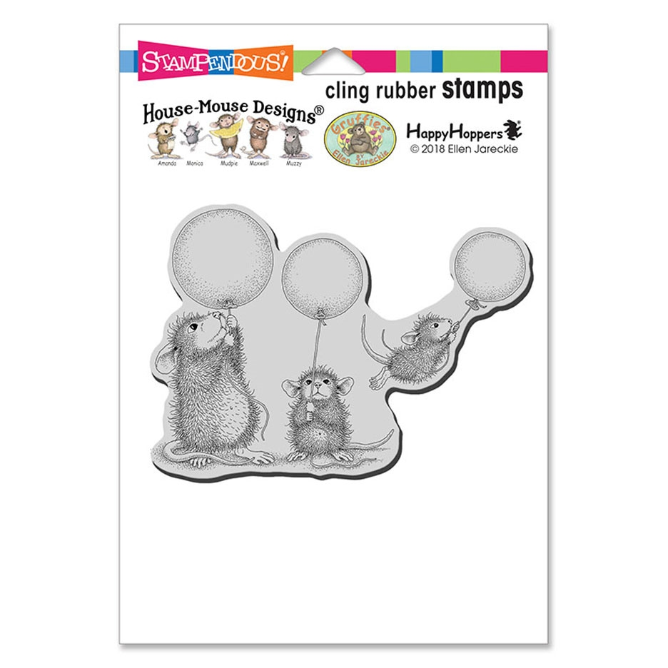 Stampendous, House Mouse Balloon Fun Cling Stamp
