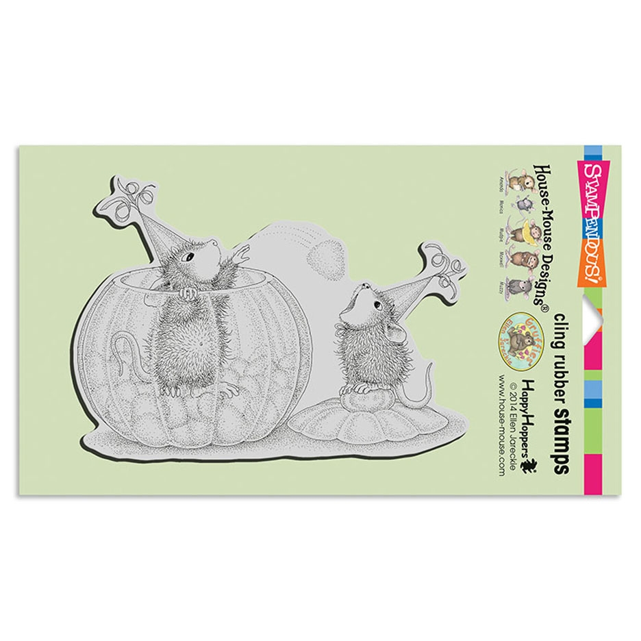 Stampendous, House Mouse Gumdrop Toss Cling Stamp