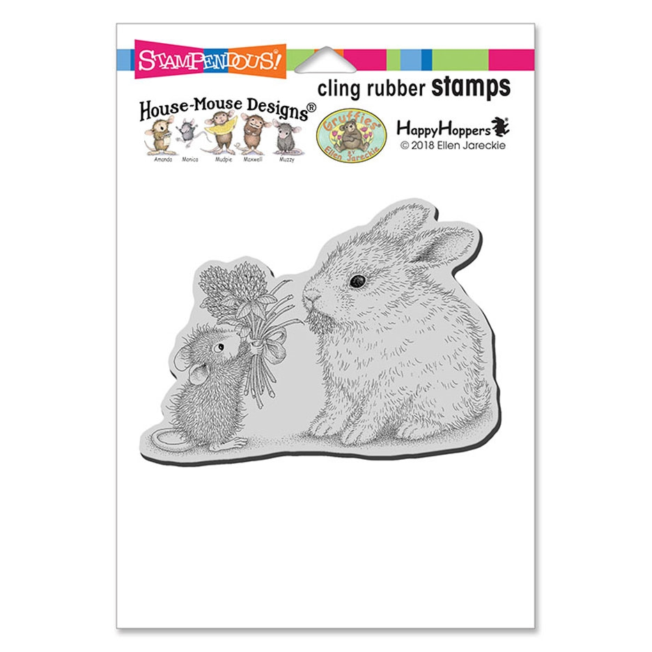 Stampendous House Mouse Clover Bouquet Cling Stamp