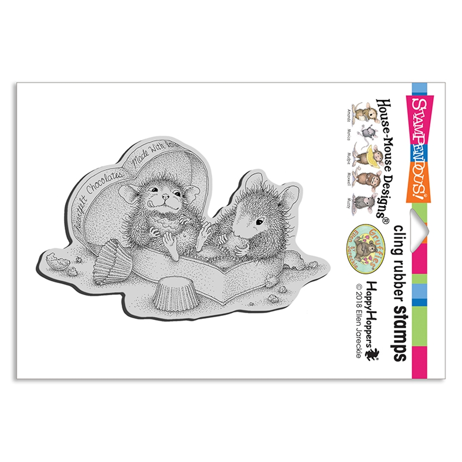 House Mouse Heartfelt Chocolates Cling Stamp