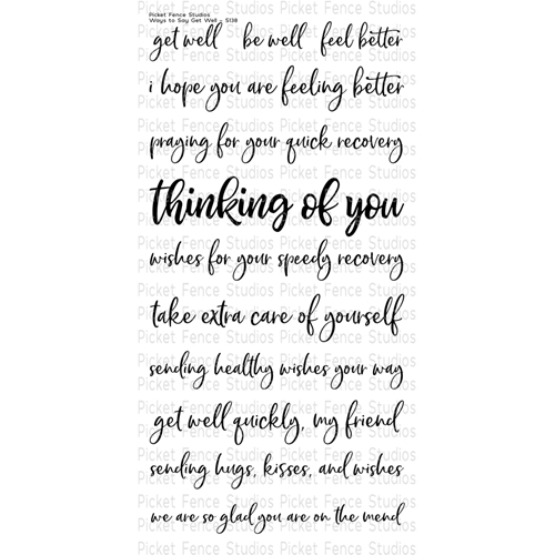 Picket Fence Studios WAYS TO SAY GET WELL Clear Stamp Set s138 Preview Image