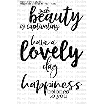Picket Fence Studios HAPPINESS BELONGS TO YOU Clear Stamp Set s125