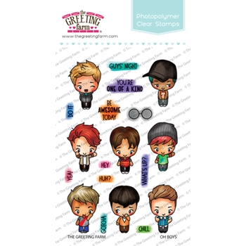 The Greeting Farm OH BOYS Clear Stamps TGF441