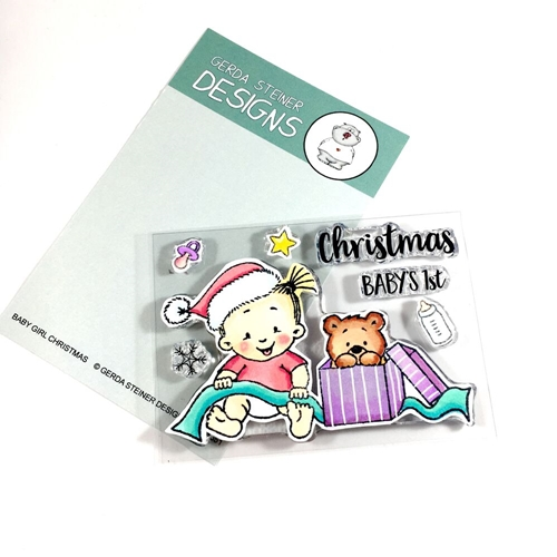 Gerda Steiner Designs BABY GIRL CHRISTMAS Clear Stamp Set gsd651 Preview Image