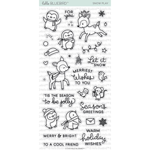 Hello Bluebird SNOW PLAY Clear Stamps hb2051 Preview Image
