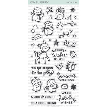 Hello Bluebird SNOW PLAY Clear Stamps hb2051