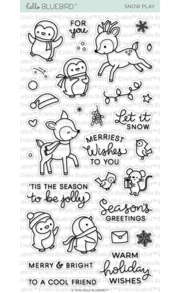Hello Bluebird SNOW PLAY Clear Stamps hb2051 zoom image