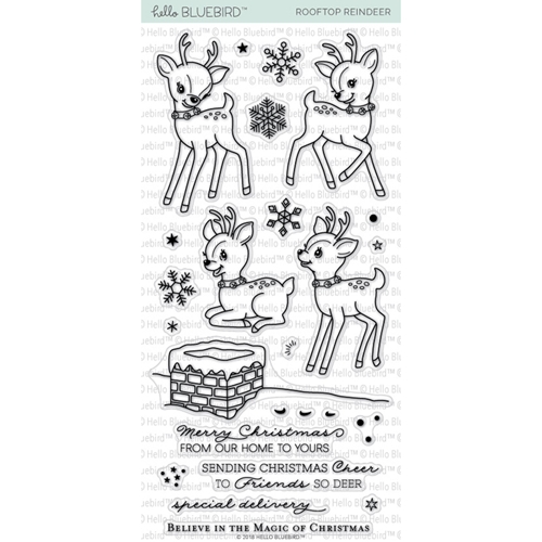 Hello Bluebird ROOFTOP REINDEER Clear Stamps hb2020 Preview Image