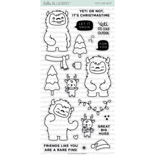 Hello Bluebird YETI OR NOT Clear Stamps hb2049 Preview Image