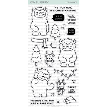 Hello Bluebird YETI OR NOT Clear Stamps hb2049